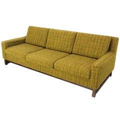Mid Century Danish Modern Raw Wool Upholstery Sofa by Selig