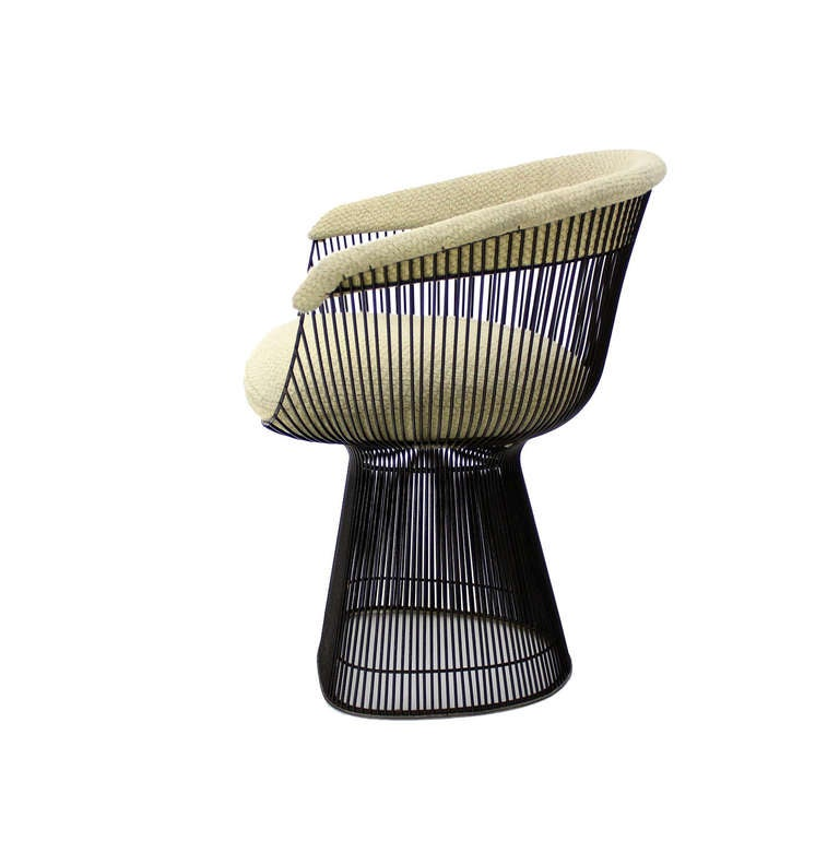 pair of warren platner knoll bronze wire chairs at 1stdibs