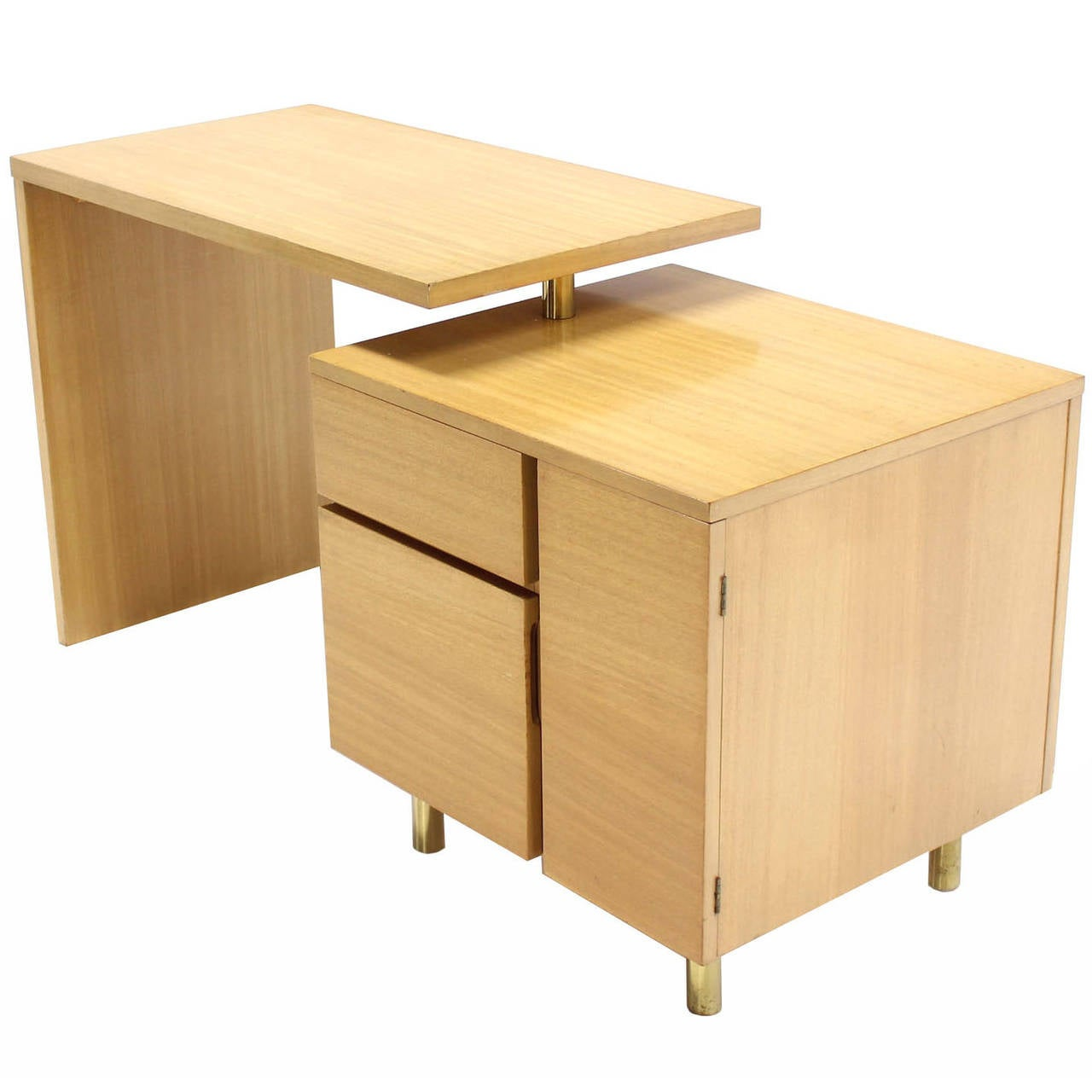 Revolving Folding Mid-Century Modern Desk Writing Table Cabinet Hide Away