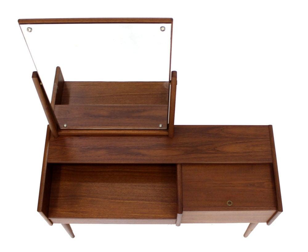 Danish mid century modern teak dressing table vanity at for Modern dressing table