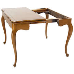 French Provincial Flip-Top Console or Dining Table with Three Leaves