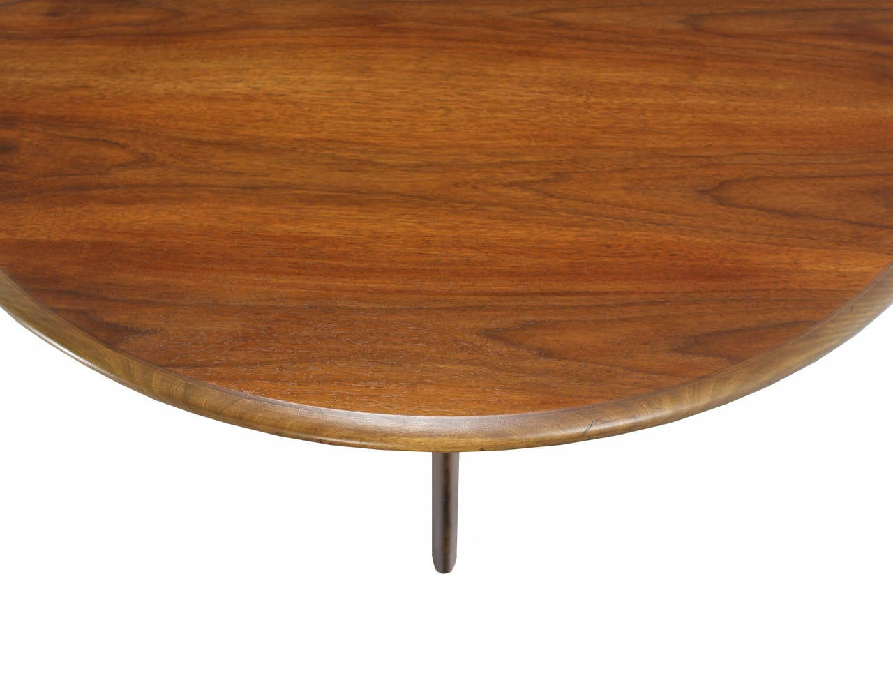 Walnut X Base Round Coffee Table For Sale At 1stdibs