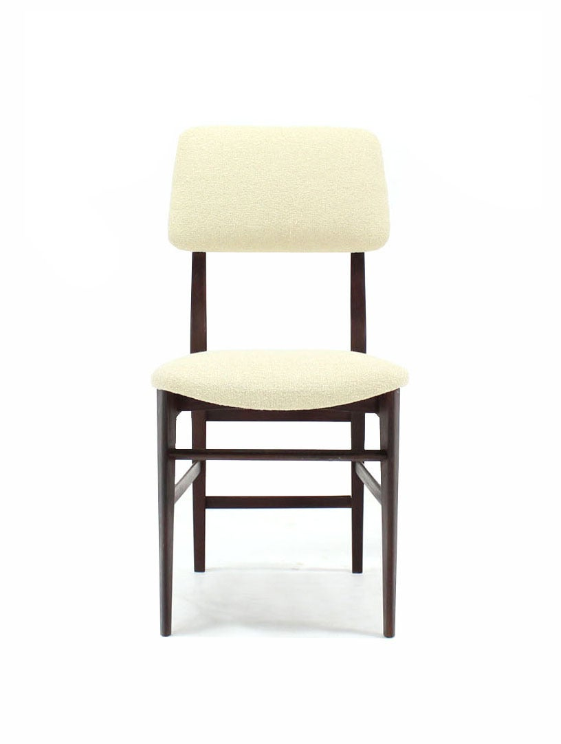italian modern walnut dining chairs new upholstery for sale at 1stdibs