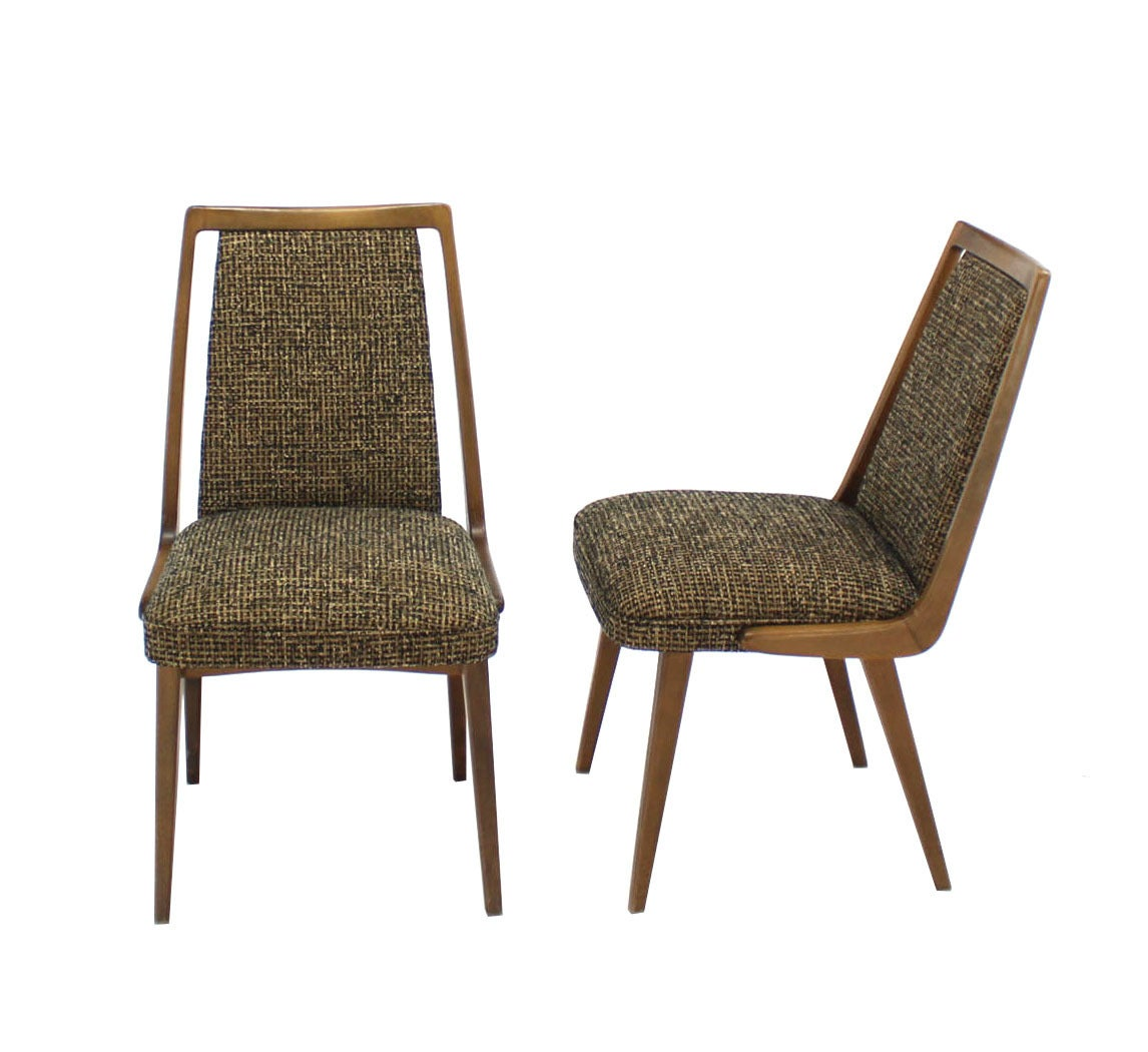 Set Of Four Mid Century Modern Side Dining Chairs New Upholstery For Sale At