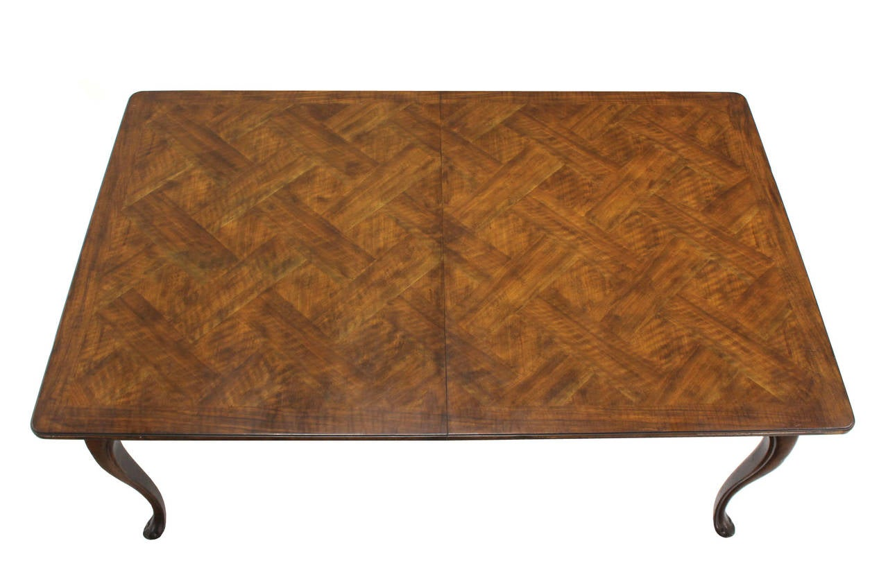 parquet top dining table two extension boards for sale at 1stdibs