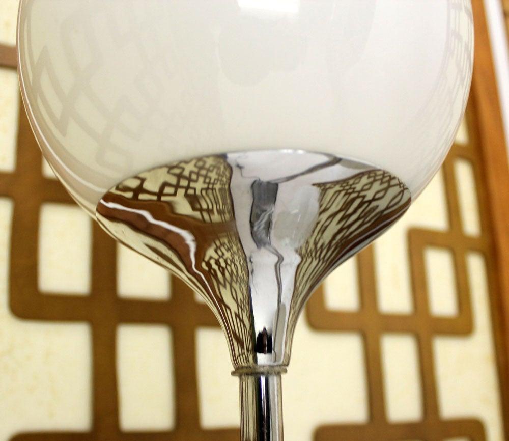 Mid-Century Modern Chrome, Four Glass Globes Floor Lamp image 5