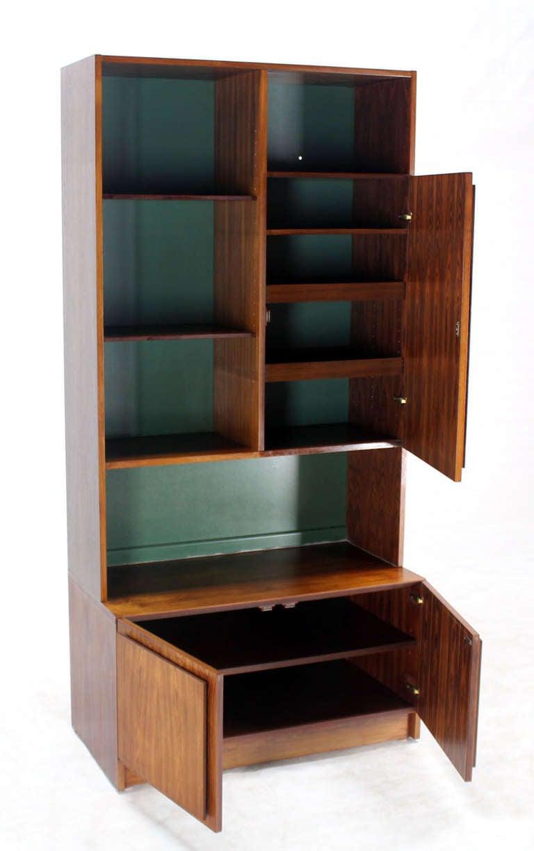 danish mid century modern rosewood wall unit shelves for. Black Bedroom Furniture Sets. Home Design Ideas