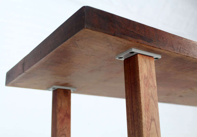 Long Solid Walnut Top Coffee Table At 1stdibs