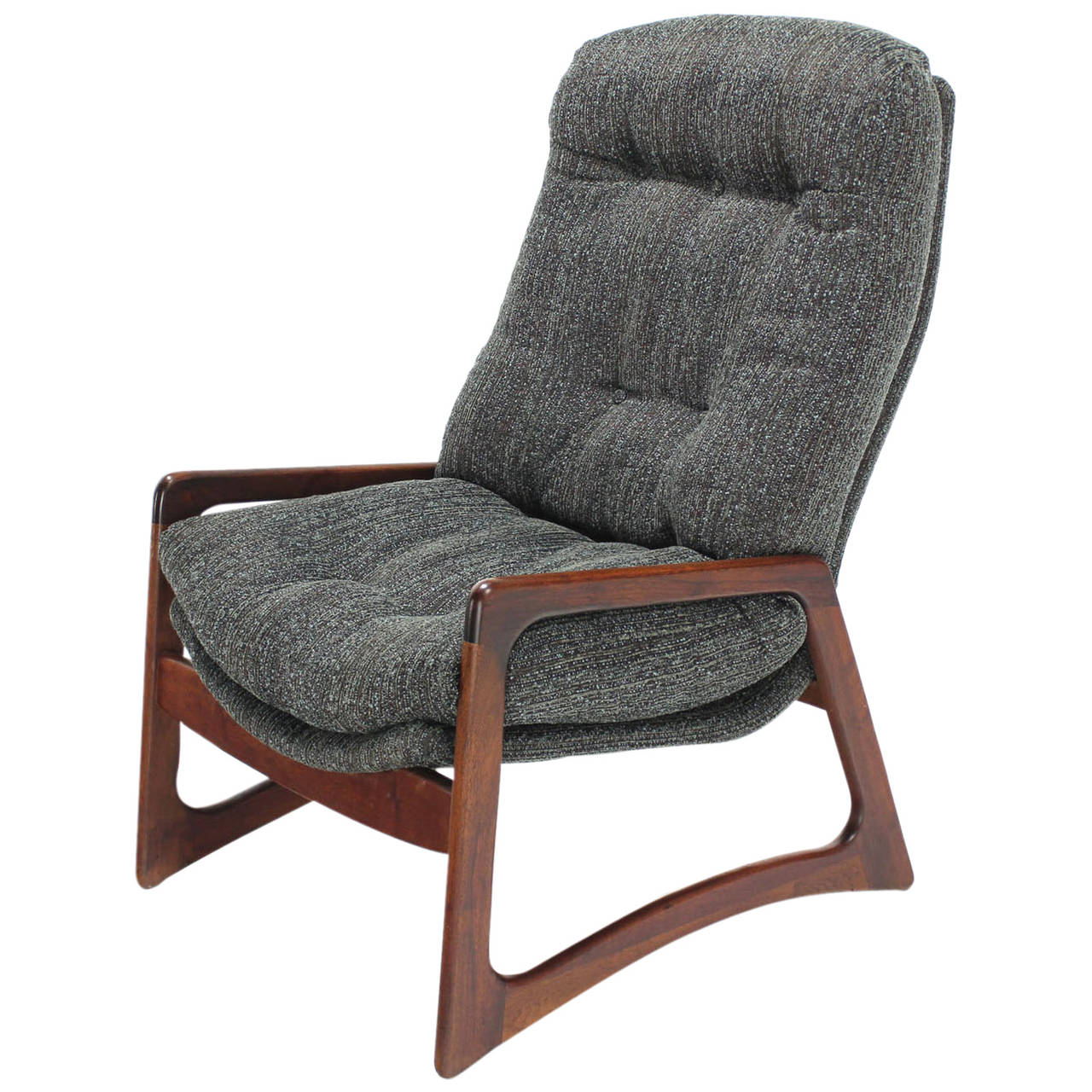 Adrian Pearsall Oiled Walnut Lounge Chair New Upholstery