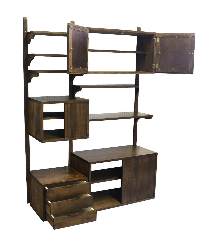 Danish Mid Century Modern Walnut Wall Unit Cabinets At 1stdibs