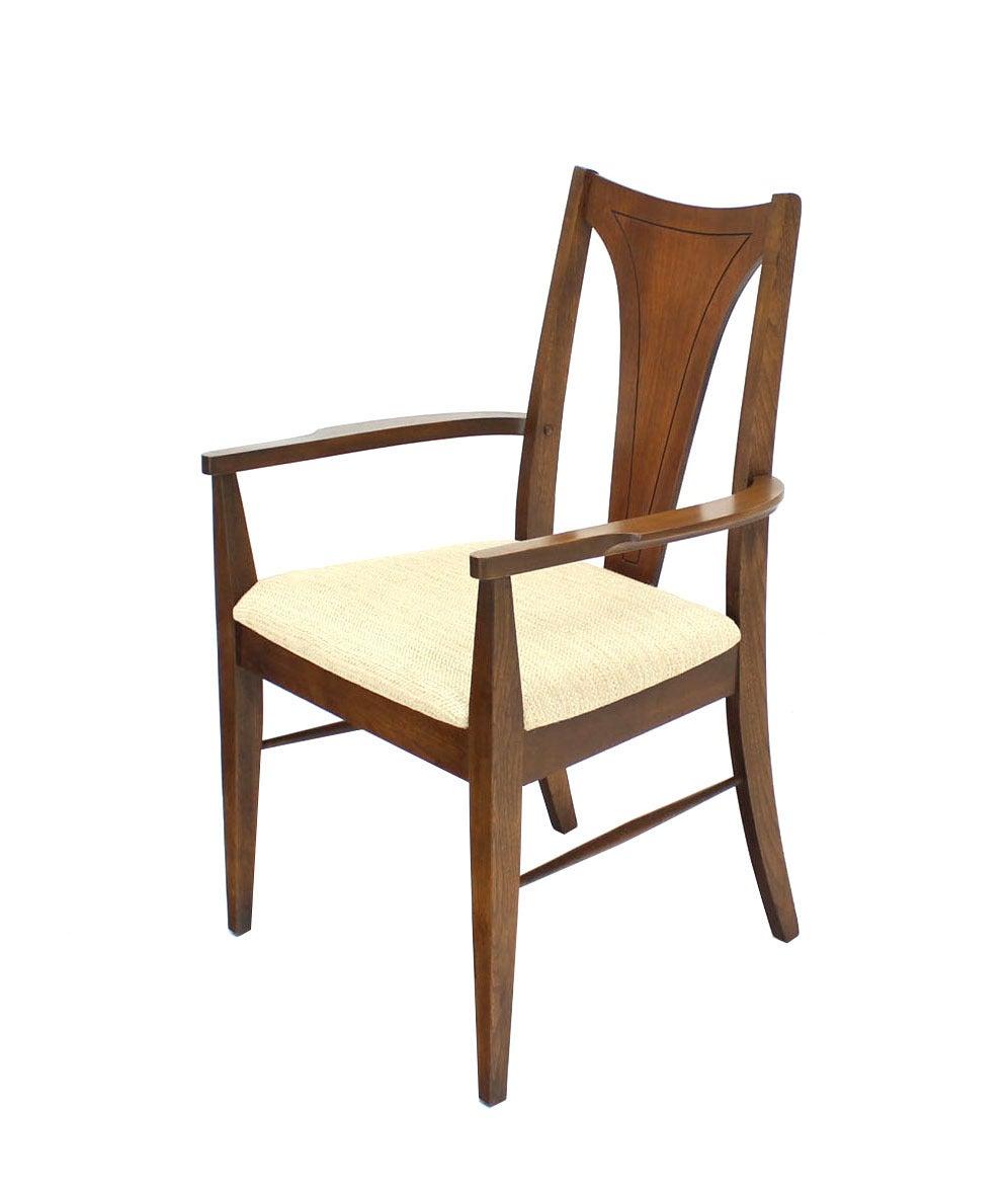 Set of six danish modern walnut dining chairs at 1stdibs for Modern walnut dining chairs