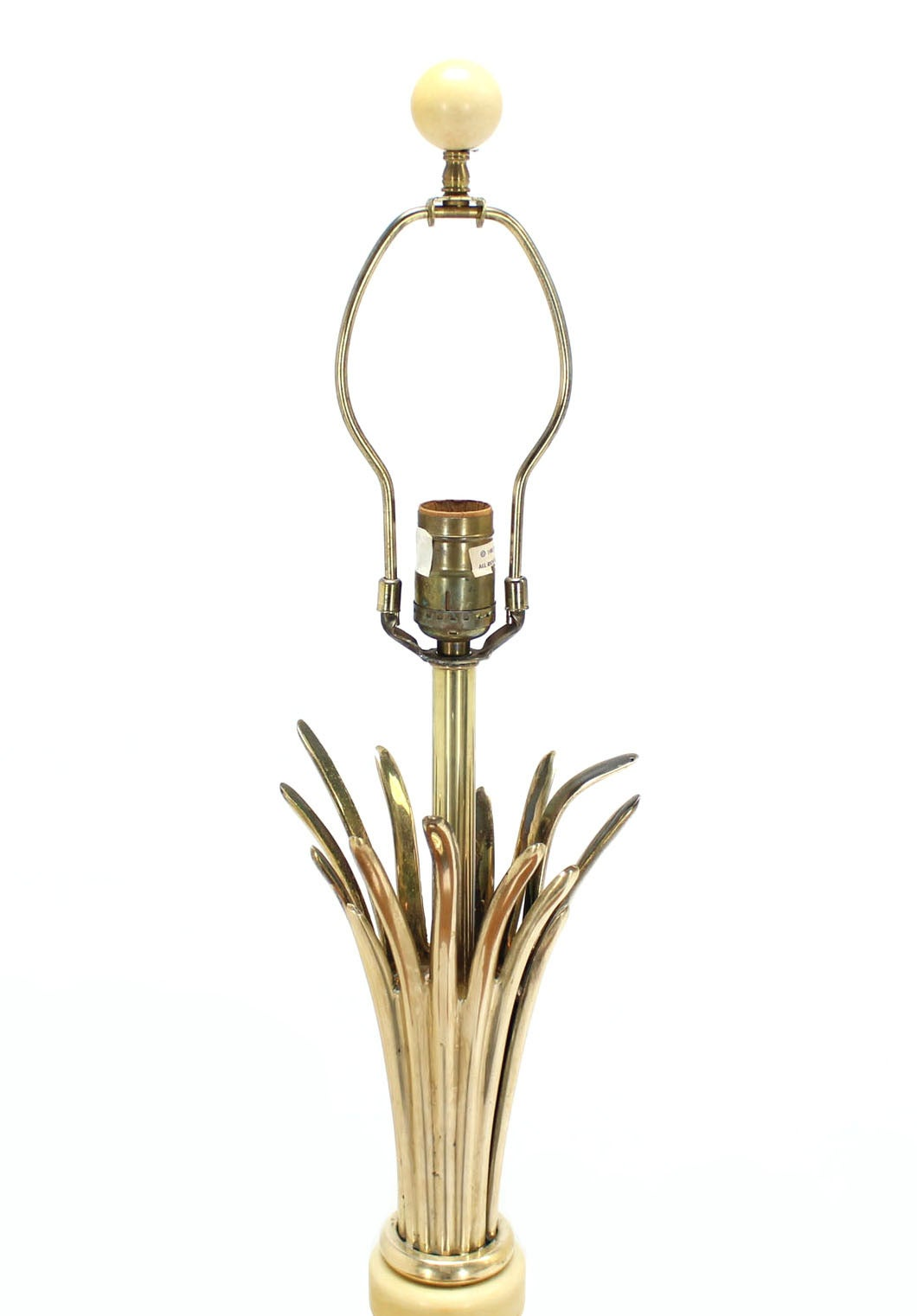 Gold Or Brass Wheat Sheaf Base Table Lamp By Chapman For