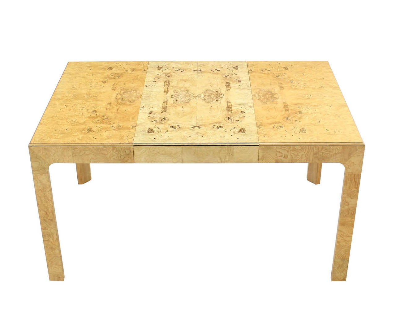 Henredon Square Game Or Dining Table With One Extension At