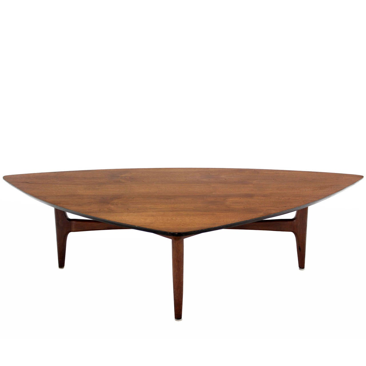 Triangular Surfboard Shape Walnut Coffee Table At 1stdibs