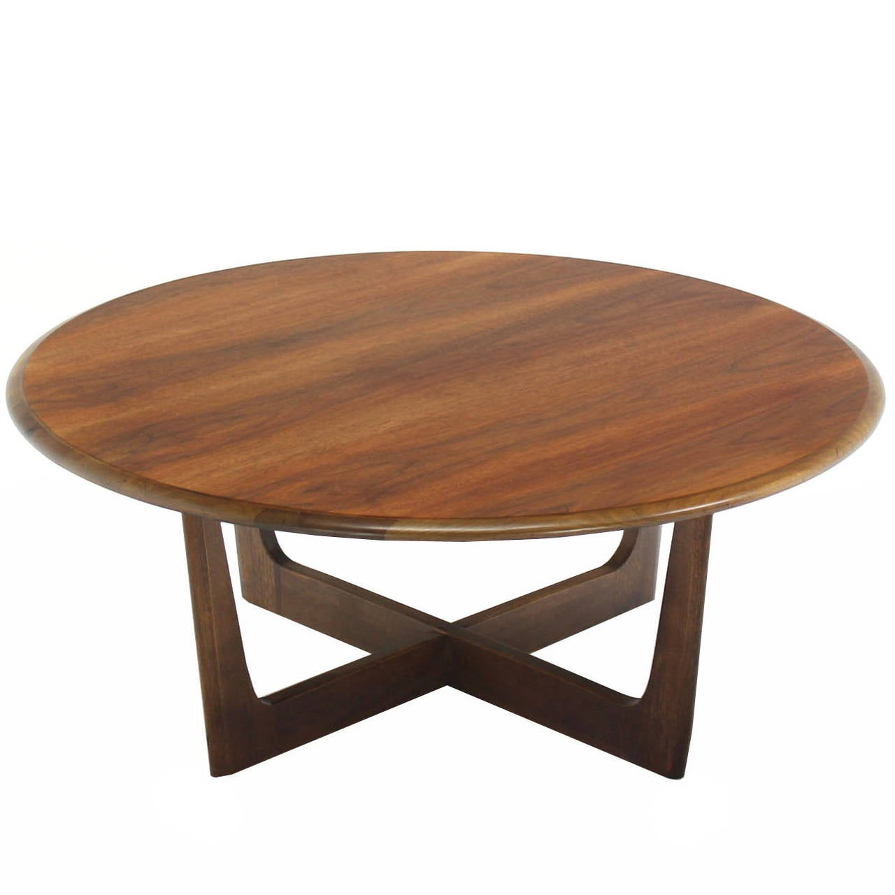 Walnut x base round coffee table at 1stdibs for X coffee tables