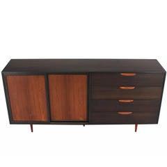 Ebonized Mahogany and Rosewood Large Dresser by Harvey Probber