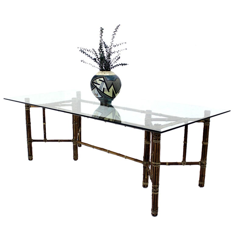 McGuire Large Bamboo Glass Top Dining Conference Table Modern : XXX883713436751411 from 1stdibs.com size 768 x 768 jpeg 39kB