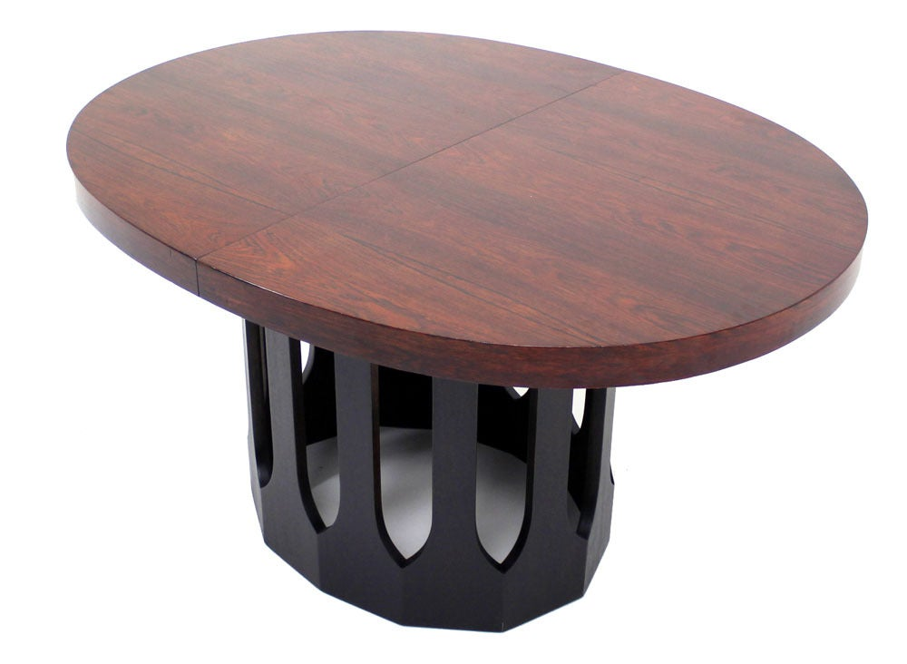 harvey probber rosewood mid century modern oval dining table image 7
