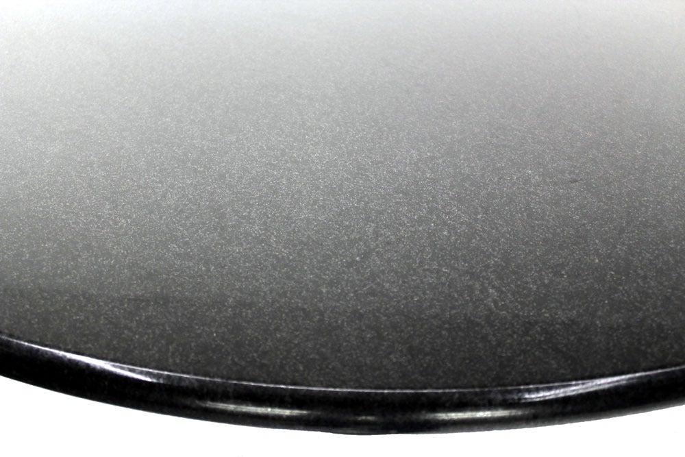 Black Coffee Granite : Apollo woodworking large round black granite coffee table