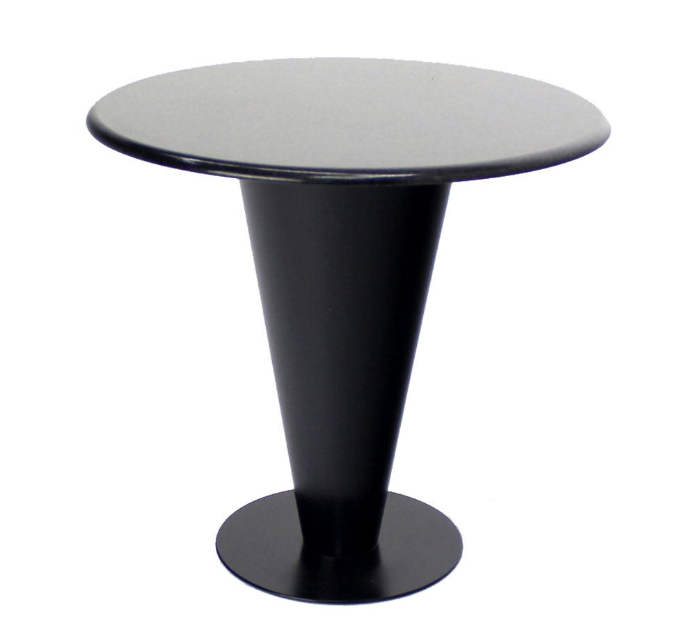 Apollo Woodworking Black Granite Top Heavy Metal Cone Base Cafe Gueridon Table For Sale At 1stdibs