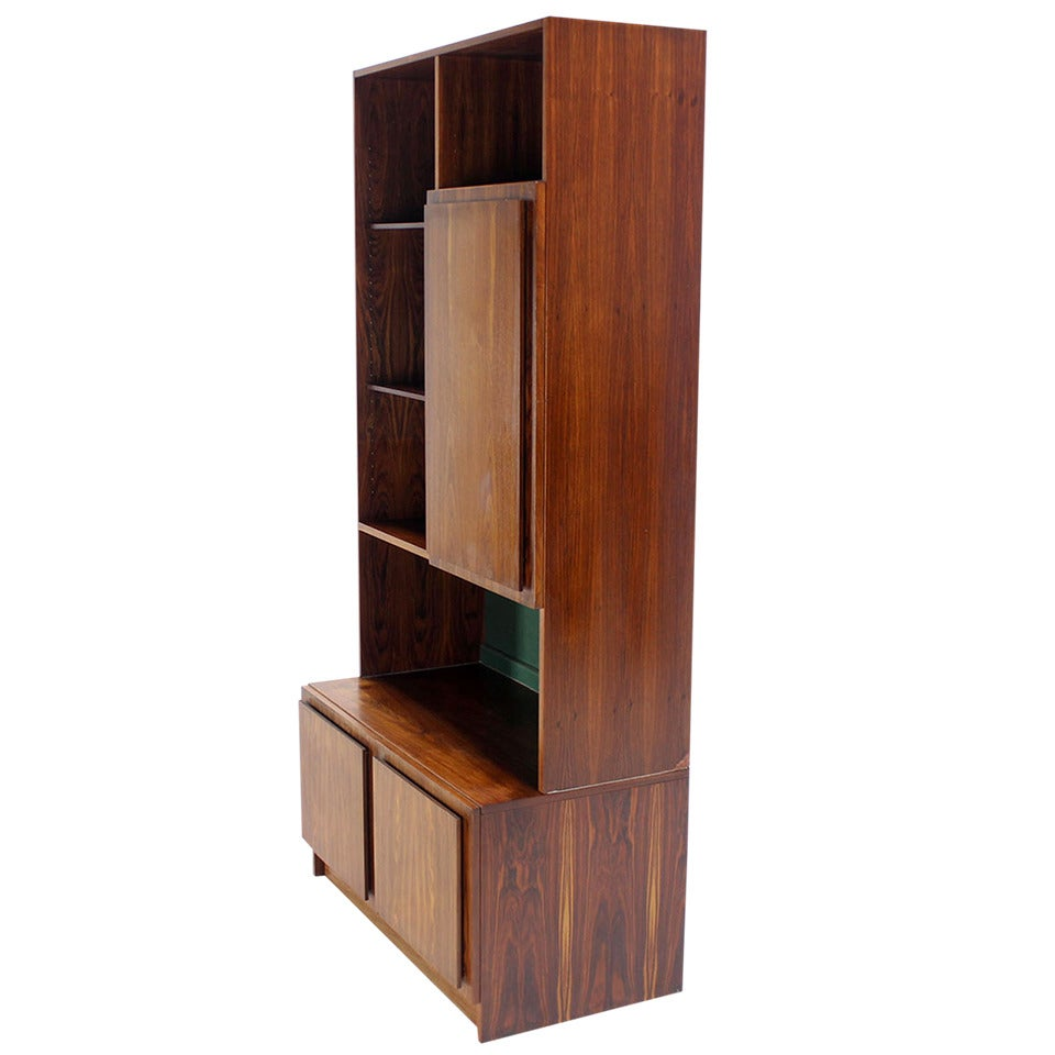 Danish Mid-Century Modern Rosewood Wall Unit Shelves