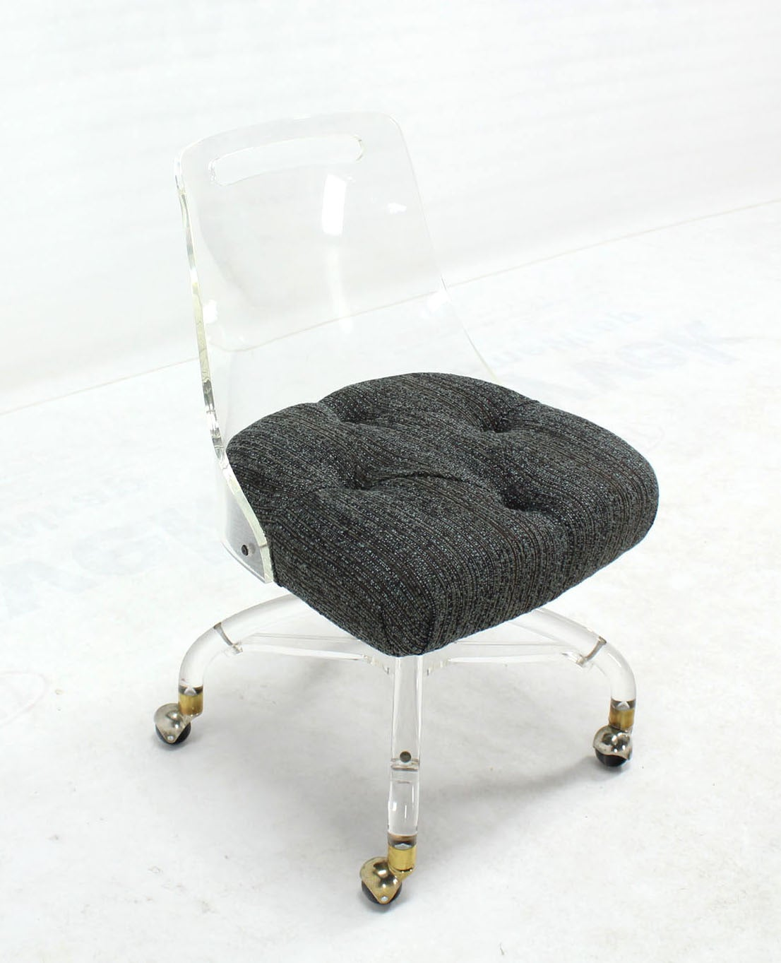 Mid Century Modern Lucite Desk Chair at 1stdibs