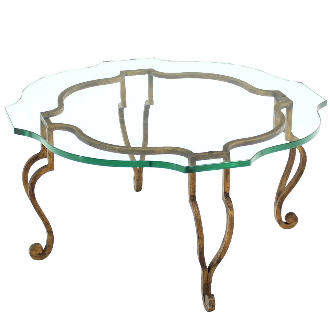 Round figural wrought iron base coffee table with thick glass top round figural wrought iron base coffee table with thick glass top 1 geotapseo Images