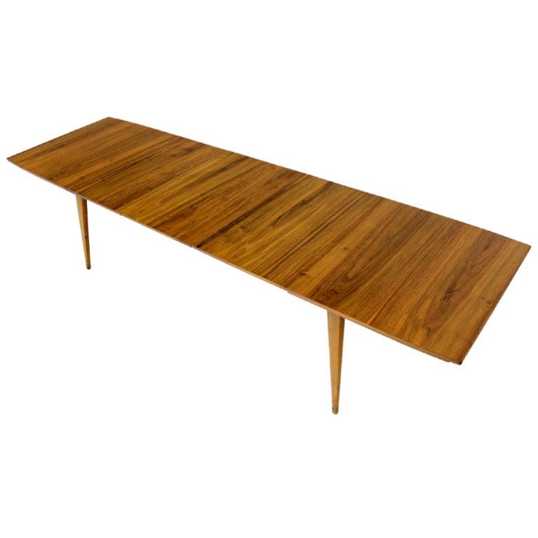 Mid Century Modern Light Walnut Dining Table 3 Leaves at  : XXX883713454970391 from www.1stdibs.com size 767 x 767 jpeg 33kB