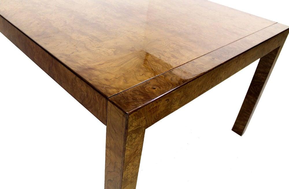 burl walnut dining table by widdicomb at 1stdibs