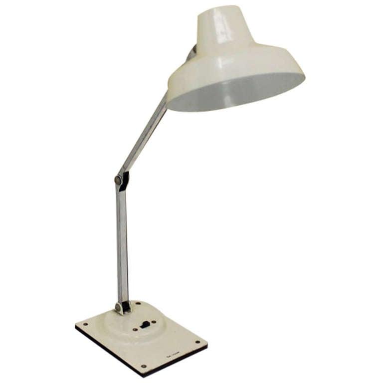 adjustable modernist mid century modern desk lamp by tensor at 1stdibs. Black Bedroom Furniture Sets. Home Design Ideas