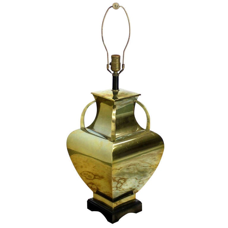 Modern Polished Brass Table Lamp Base For Sale At 1stdibs