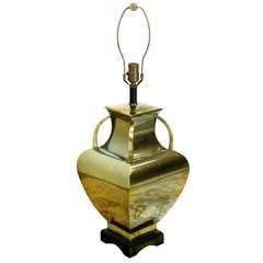 Modern Polished Brass Table Lamp Base.