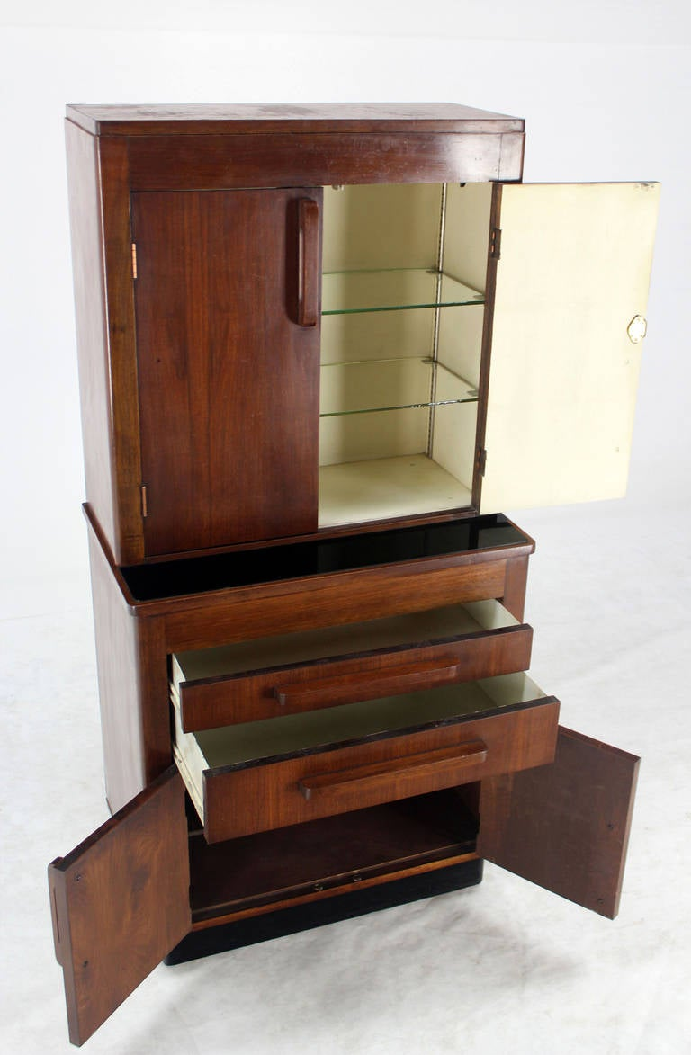 Art Deco Walnut Dental Medicine Cabinet For Sale At 1stdibs