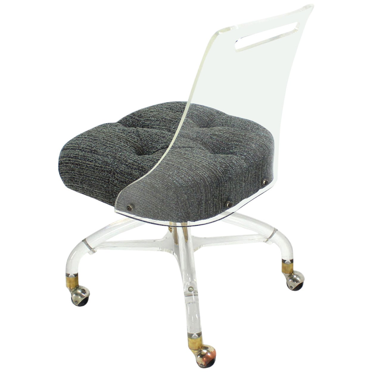 Mid Century Modern Lucite Desk Chair At 1stdibs