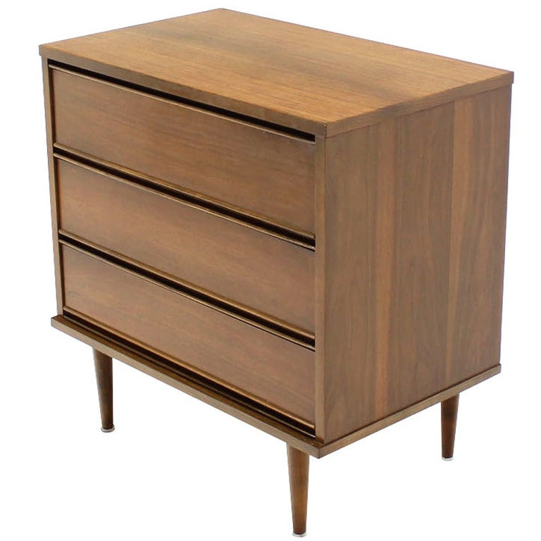 20 bernhardt campaign dresser pair of three drawer mid cent