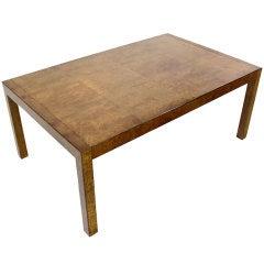 Burl Walnut Dining Table by Widdicomb