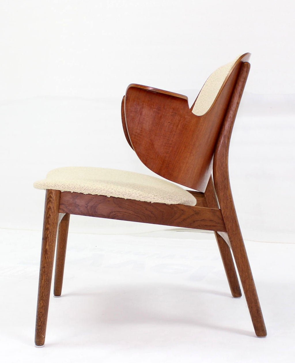 Unusual mid-century modern molded plywood desk chair possibly after H. Wegner.
