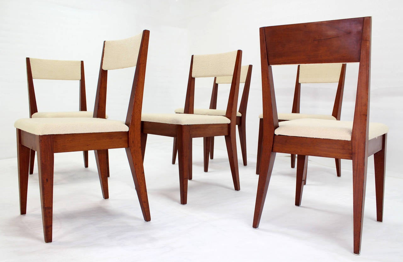 this set of six mid century modern dining chairs is no longer
