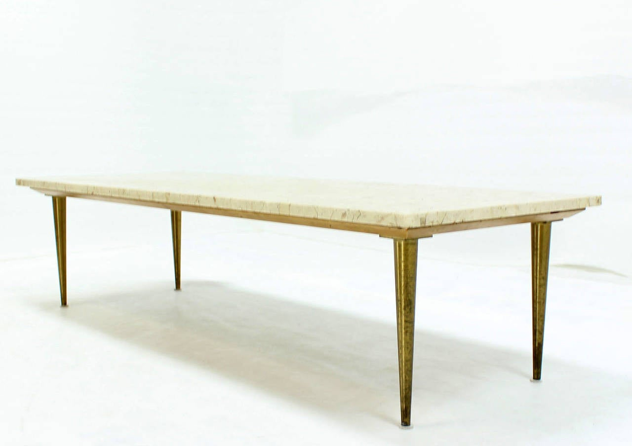 Clean Lines Mid Century Modern Design Table W Marble Top