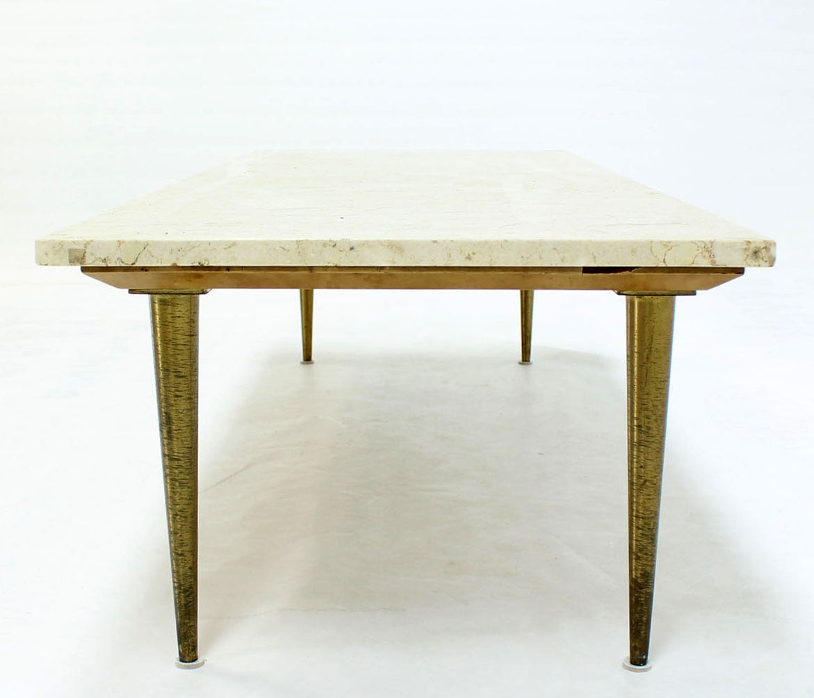 Clean Lines Mid Century Modern Design Table W/ Marble Top