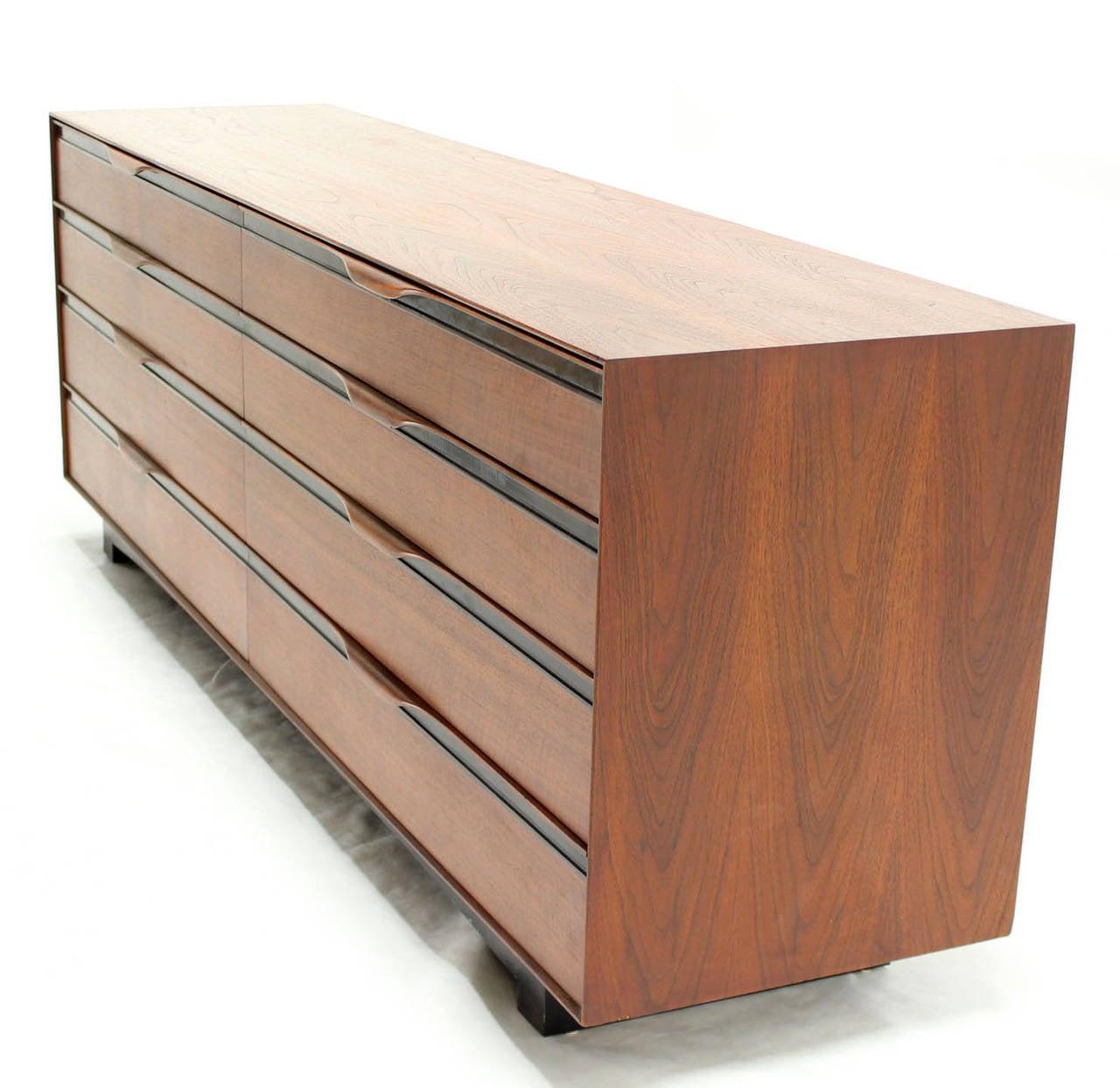 Long Teak Dresser Credenza By John Stuart For Sale At 1stdibs