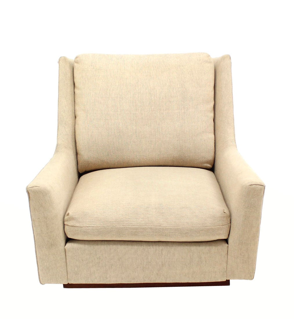 American Large Lounge Chair on Walnut Frame Base  by Harvey Probber For Sale