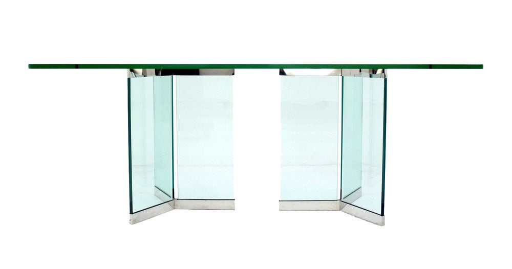 Pace Collection Mid Century Modern Glass Dining Table image 3