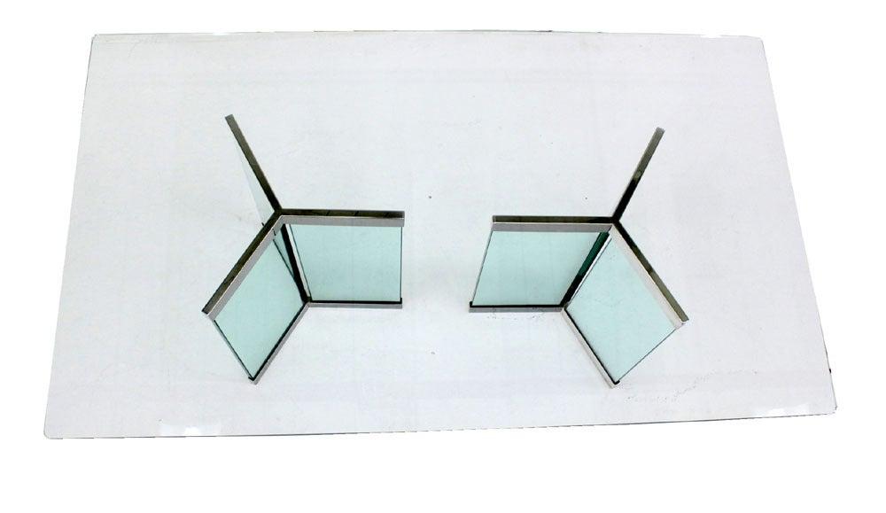 Pace Collection Mid Century Modern Glass Dining Table image 5