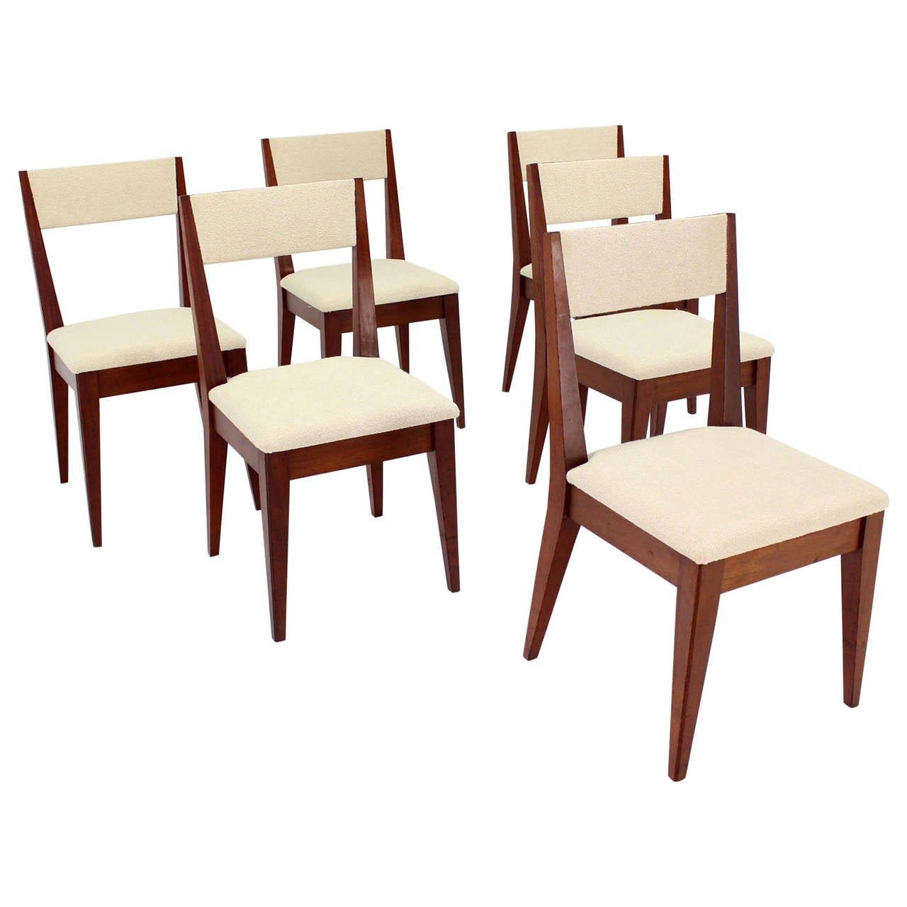 Set of six mid century modern dining chairs at 1stdibs for Contemporary furniture dining chairs