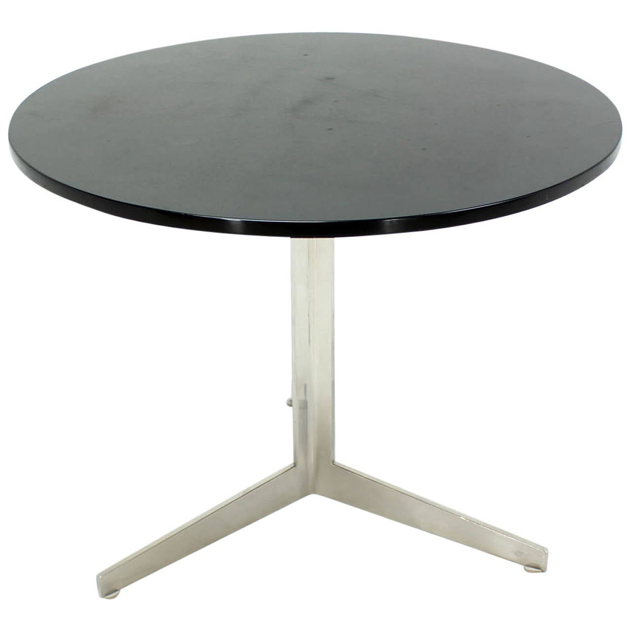 Stainless steel base marble top round side table at 1stdibs for Side table base