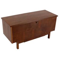 Lane Mid-Century Modern Cedar Walnut Hope Chest Trunk w/ Drawer