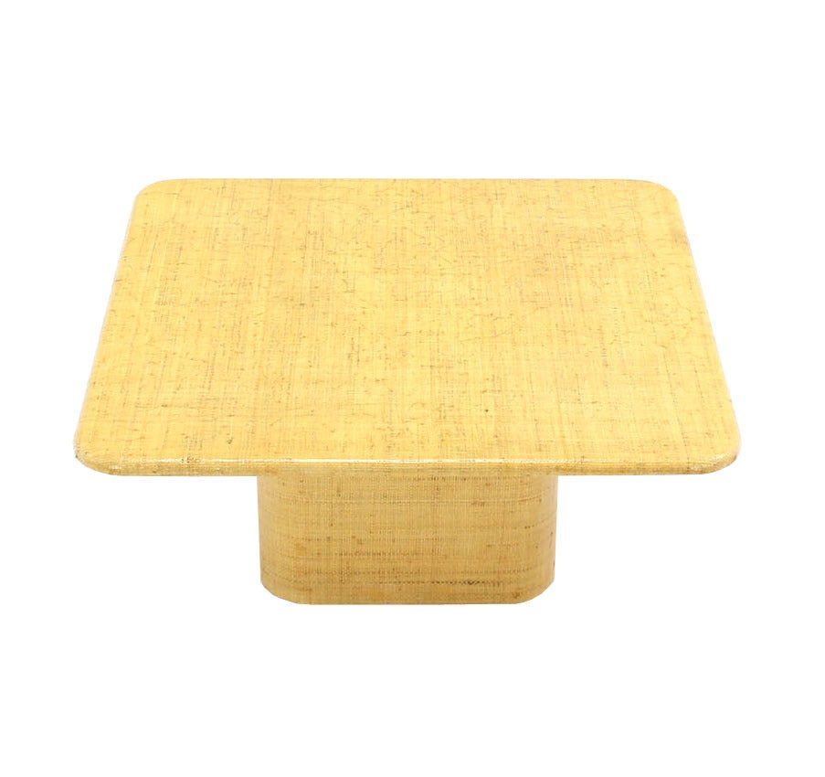 square cloth covered coffee table for sale at 1stdibs