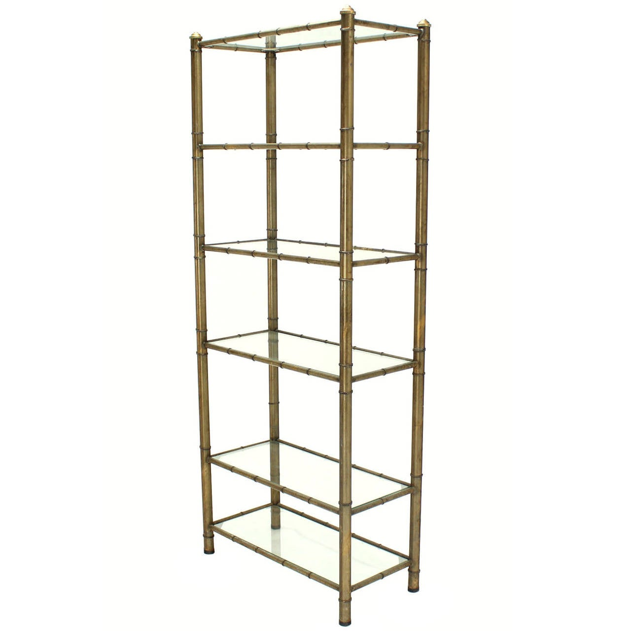 faux bamboo mid century modern etagere at 1stdibs. Black Bedroom Furniture Sets. Home Design Ideas