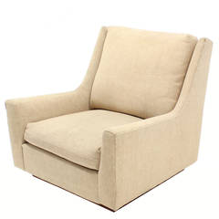 Large Lounge Chair on Walnut Frame Base  by Harvey Probber